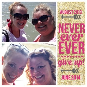 Me and my sister, August 2013 to June 2014.