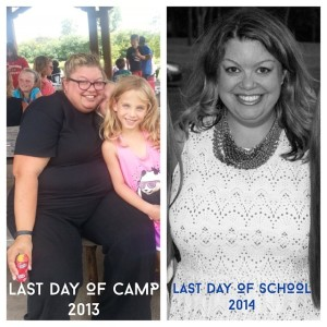Last day of camp to last day of school: down 84 pounds