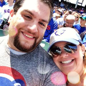 Me and Adam at a Cubs game
